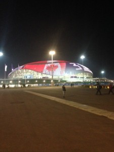 Bolshoy Ice Dome in Sochi played host to the Gold Medal Hockey games.