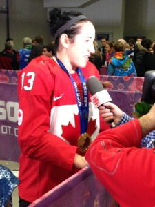 Caroline Ouellette captained Canada to Gold.