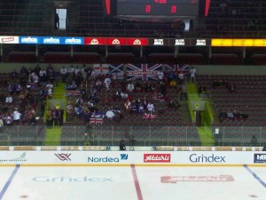 Team GB fans start to arrive for the game against France.