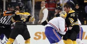Never a dull moment with the Habs & Bruins. Photo Courtesy - usatoday.com