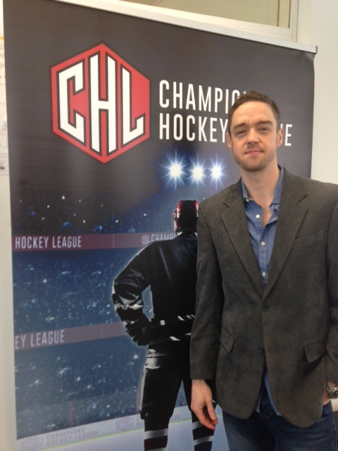 Murph at the CHL broadcast meetings in Zug, Switzerland.