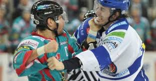 Fighting may have been down in the EIHL last year, but Keefe is always game. (Courtesy belfastgiants.com)